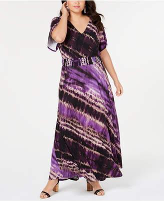 INC International Concepts I.n.c. Plus Size Tie-Dyed Maxi Dress