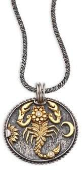 Konstantino Zodiac Diamond, 18K Yellow Gold& Sterling Silver Scorpio Pendant