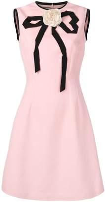 Gucci appliqué rose dress
