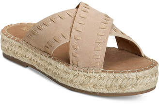 Aerosoles Rose Gold Espadrille Slide Sandals Women's Shoes