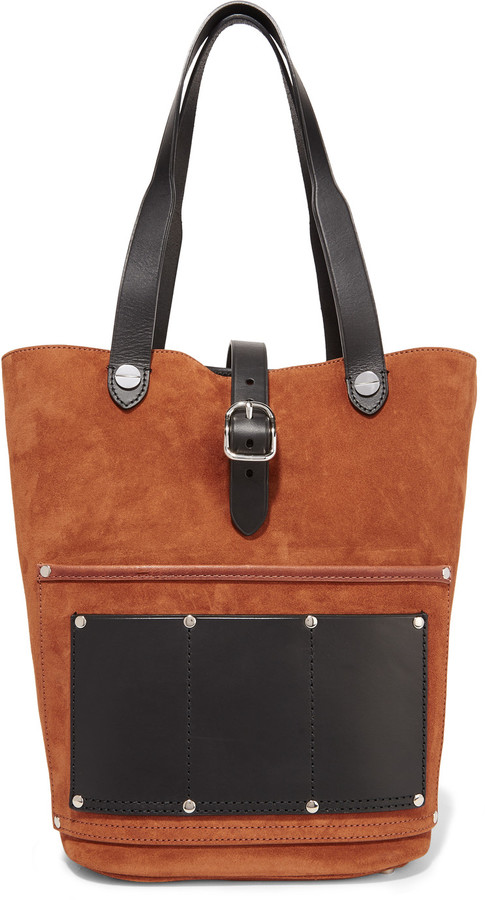 Alexander WangAlexander Wang Mason leather-trimmed suede tote