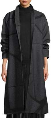Eileen Fisher Alpaca Jacquard Long Coat