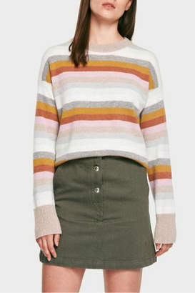 White + Warren Cashmere Stripe Crew