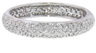 Couture Sethi Wide Pavé Diamond Band Ring - White Gold