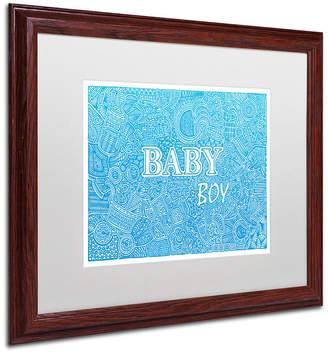 Trademark Global Viz Art Ink 'Baby Boy' Matted Framed Art