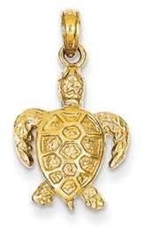 Black Bow Jewelry Company 14k Yellow Gold Sea Turtle Pendant