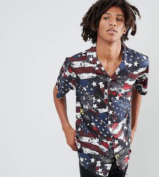 Sacred Hawk American flag print shirt