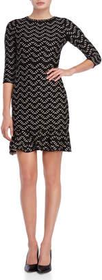 Sandra Darren Petite Printed Sweater Dress