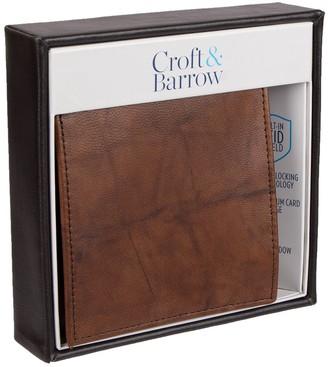 Croft & Barrow Men's RFID-Blocking Extra-Capacity Hipster Wallet
