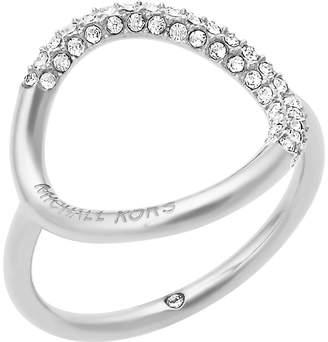 Michael Kors Brilliance silver-toned pavé ring