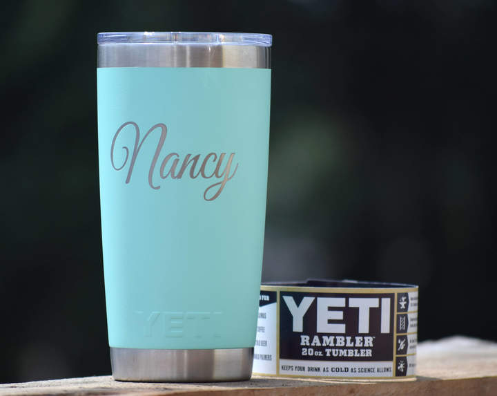 Etsy AUTHENTIC Engraved Yeti Rambler - Tumblers - Personalized Yeti - Yeti Gift - Laser Engraved Yeti - Y
