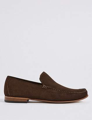 Marks and Spencer Suede Slip-on Loafers with Stain Resistance