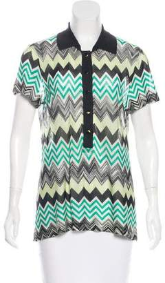 Missoni Patterned Short Sleeve Top