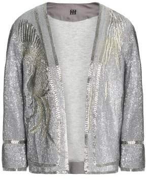 Haute Hippie Metallic Beaded Cotton Jacket