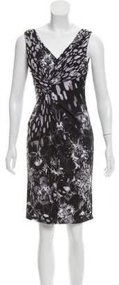 Versace Floral Print Knee-Length Dress