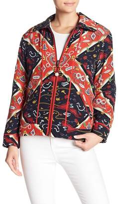 Opening Ceremony Printed Reversible Knit Sorority Jacket