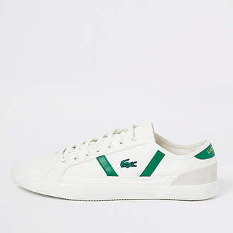 River Island Lacoste white sideline canvas sneakers