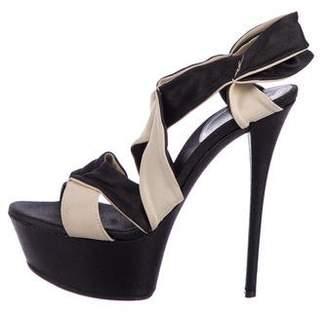 Casadei Ankle Strap Platform Sandals