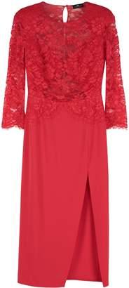 Elisabetta Franchi Celyn B. Crepe Dress With Lace Detail