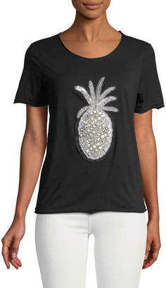 Romeo & Juliet Couture Beaded Pineapple Tee