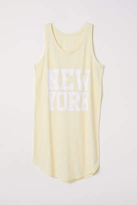 H&M Nightgown with Printed Design - Yellow