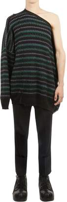 Raf Simons Oversized Asymmetric Jacquard Sweater