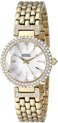 Badgley Mischka Women's BA/1344WMGB Swarovski Crystal-Accented -Tone Bracelet Watch