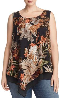 Status by Chenault Plus Tropical Layered Tank