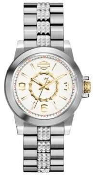 Harley-Davidson Analog Boyfriend Collection Stainless Steel Bracelet Watch