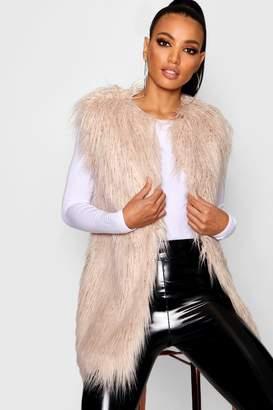 boohoo Mongolian Faux Fur Gilet