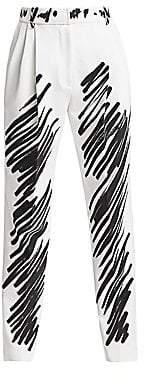 Moschino Women's Scribble Print Pants
