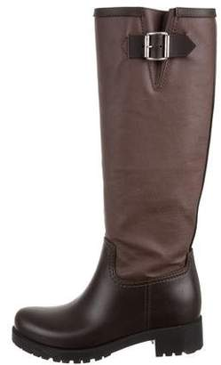 MM6 MAISON MARGIELA Leather Knee-High Boots