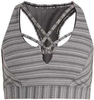 TRACK & BLISS Bali knot-detail performance bra
