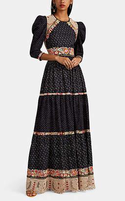 933974a1a1c Ulla Johnson Women s Embroidered Linen-Cotton Maxi Dress - Blue