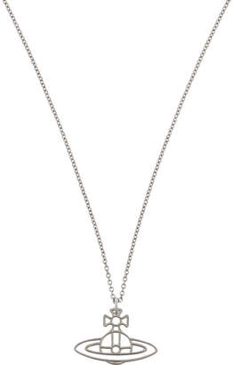 Vivienne Westwood Thin Lines flat orb necklace