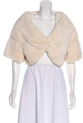 Mink Fur Crop Jacket