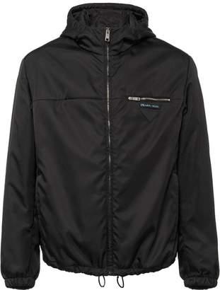 Prada nylon gabardine jacket with hood