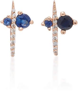 Sophie Ratner 14K Rose Gold Sapphire And Diamond Earrings
