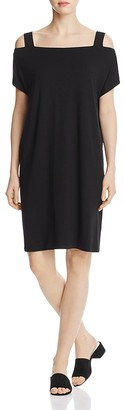 Eileen Fisher Cold-Shoulder Dress $198 thestylecure.com