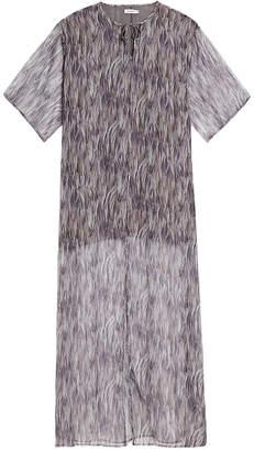 J. Lindeberg Layla Feather Print Maxi Kaftan Dress