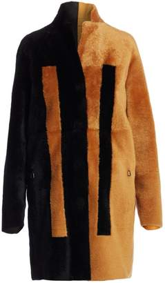 Akris Essential Bicolor Reversible Shearling Coat