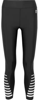 P.E Nation Resurgence Cropped Printed Stretch Leggings - Black