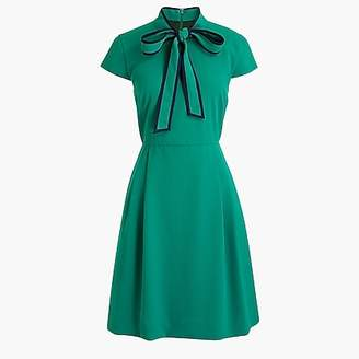J.Crew Tall tie-neck dress in 365 crepe