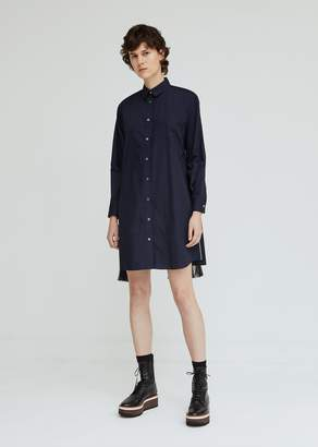 Sacai Cotton Poplin Chiffon Panels Dress