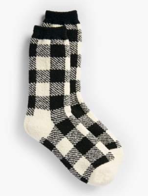 Talbots Buffalo-Plaid Lounging Socks