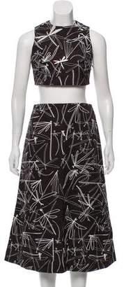 Awake Printed Embellished Skirt Set w/ Tags