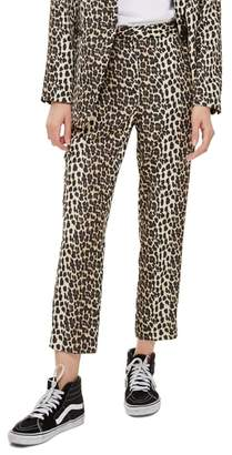 Topshop Leopard Suit Trousers