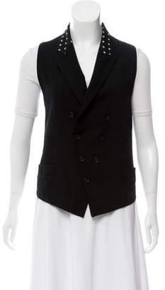 Antonio Marras Notched Lapel Virgin Wool Vest