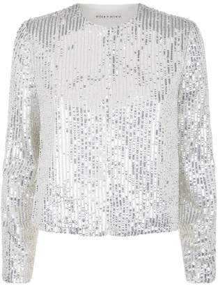 Alice + Olivia Kidman Embellished Box Jacket