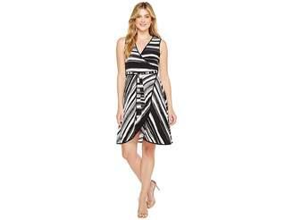 Calvin Klein Self Tie Printed Jersey Dress Women's Dress